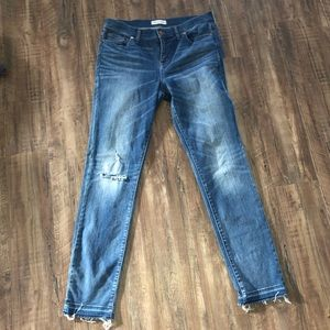 Madewell Alley Straight Hem Distressed Size 32